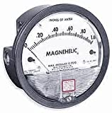 Dwyer Magnehelic Series 2000 Differential Pressure Gauge, Range 0-150'' WC