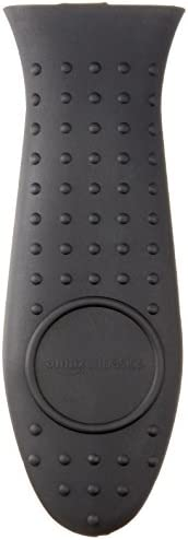 AmazonBasics Silicone Hot Skillet Handle Cover Holder, Black