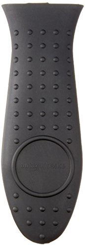 AmazonBasics Silicone Hot Handle Cover/Holder, Black