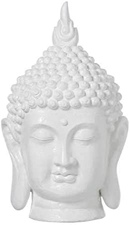 Cabeza de Buda Grande de Resina, Color Blanco: Amazon.es: Hogar
