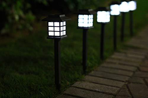 - Moxava Outdoor Solar Light Pathway Lights - 6 Piece Set