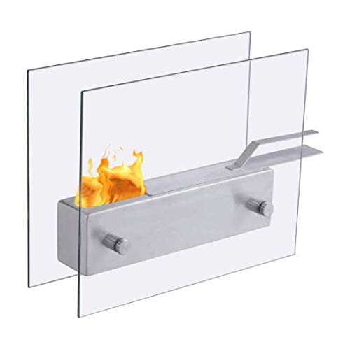 Fireplace Tabletop Stainless Steel Portable Ventless Bio Ethanol by Sunil