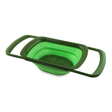 Squish Collapsible Over The Sink Colander, Green