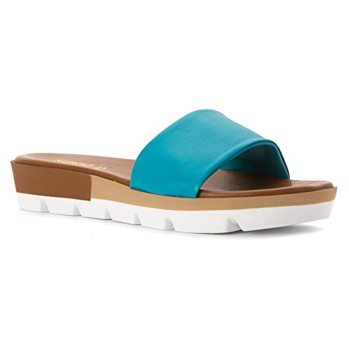 Mountain by 37 Sandal White Summit Women's Turquoise M Leather Faye E7qPpPW