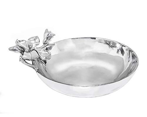 Arthur Court Designs Aluminum Magnolia Bowl 13