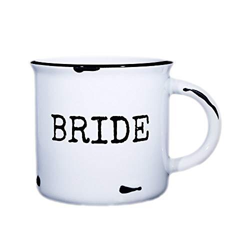 Bride Mug - 15 oz Distressed Campfire Mug for Bride ()
