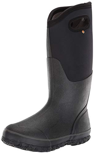 Bogs Women's Classic High Handle Waterproof Insulated Boot,Black Smooth,9 M US