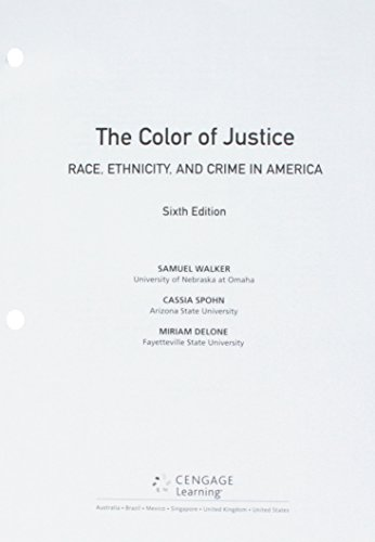 Bundle The Color Of Justice Race Ethnicity And Crime In America