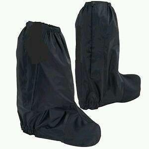 Black Waterproof Motorcycle Rain Boot Covers gaitor gaiter pair Rain Guard New