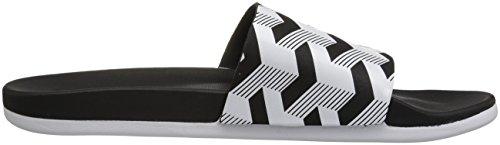 ... Adidas Menns Adilette Jf + Linken Gr Lysbilde Sandal, Core Svart / Hvit  / Kjerne