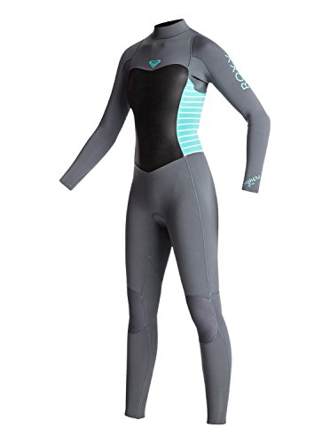 Roxy Girls Roxy 4/3Mm Syncro Series - Back Zip Gbs Wetsuit - Girls 8-16 - 10G - Blue Ash / Pistaccio - Good Wetsuits