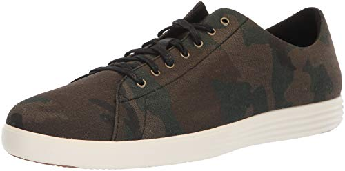 Cole Haan Men's Grand Crosscourt II Sneaker, camo Canvas, 12 M - Cole Haan Green Dark