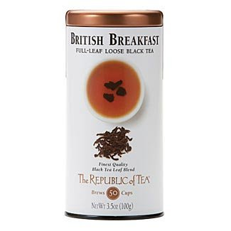 - The Republic Of Tea British Breakfast Full-Leaf Black Tea, 3.5 Ounces / 50-60 Cups (Refill Bag)