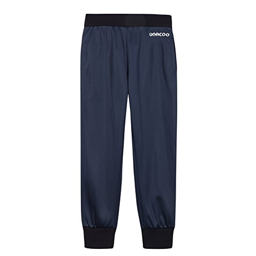 UNACOO Boys Active Basic Jogger Breathable Fleece Lined Pants (Navy, XL(11-12T)) by UNACOO