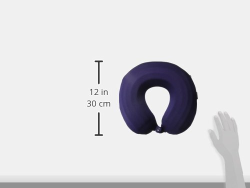Lavish Home Memory Foam Travel Pillow- Round U-Shaped Neck/Head Support with Pillowcase Protector for Sleeping, Airplanes, Train and Camping by (Navy) by Lavish Home (Image #9)