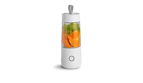 PICKME - Mini licuadora portátil USB Recargable, sin BPA, para Batidos y Batidos, licuadora pequeña para Oficina y Viajes, Blanco, Large: Amazon.es: Deportes y aire libre