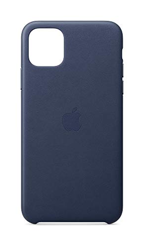 Apple Funda Leather Case (para el iPhone 11 Pro Max) – Azul noche