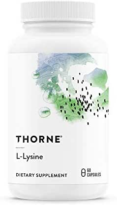 Thorne Research - L-Lysine - Essential Amino Acid for Skin Health, Energy Production, and Immune Function - 60 Capsules