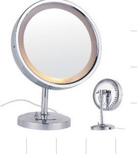 Copper mirror lighted LED cosmetic mirror table mirror 9-inch bulbs