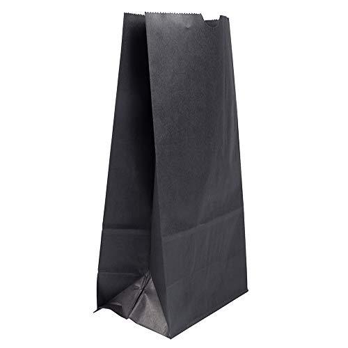 (JAM PAPER Lunch Bags - Large - 6 x 11 3 3/4 - Black Kraft - 25/Pack)
