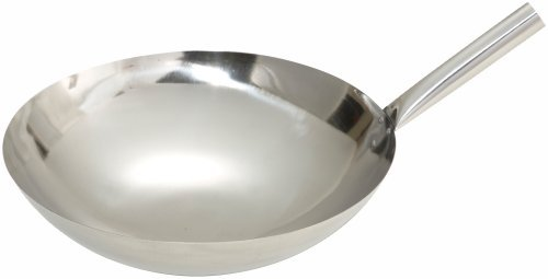 16 in stainless steel wok - 8
