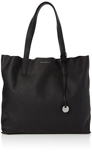 COCCINELLE - Grace, Shoppers y bolsos de hombro Mujer, Black (Noir/silver), 11x33x35 cm (W x H L)