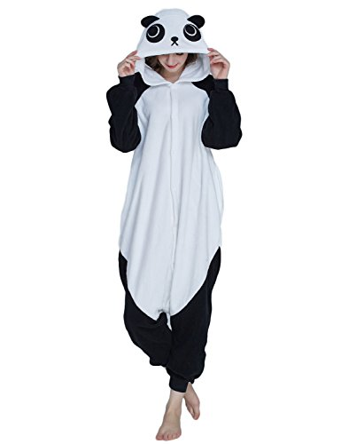 KING Fun Unisex Adult Onesies Pajamas Panda Costumes One-Piece Animal Cosplay Medium A3 -