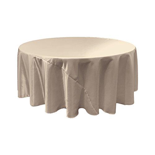 LA Linen Bridal Satin Round Tablecloth, 120-Inch, - Satin Wholesale Bridal