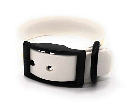 M,L, XL Biothane Dog Collars, Dog Collar, Buy a Collar help a Veteran. Weather and Waterproof Puppy and Dog Collar with Black Hardware for Large Dogs and XL Dogs (Medium(13.25-17.75') 1'Wide, White)