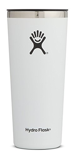 (Hydro Flask 22 oz Tumbler Cup | Stainless Steel & Vacuum Insulated | Press-In Lid | White)