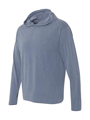 Bodek And Rhodes 50137536 4900 Comfort Colors Adult Long-Sleeve Hooded Tee Blue Jean - Extra Large