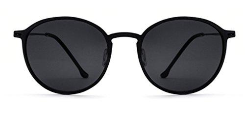 Espejo Hombres Conducción MOQJ Retro B Redondas de Sol ultraligeras Gafas Gafas Gafas C polarizador de de de Sol Gama Alta rzqgxZrvnw