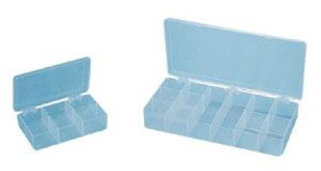 Flambeau Compartment Box, Translucent, 2-5/16''H x 8-3/4''L x 13''W, 1EA Polypropylene Translucent T824 - 1 Each