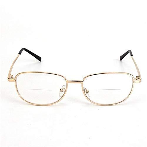 Metal Frame Rimmed Comfortable Bifocal Presbyopic Fatigue Relieve Reading Glasses Strength 1.0 1.5 2.0 2.5 3.0 - Eye Care Reading Glasses - 1 X Pinhole Glasses
