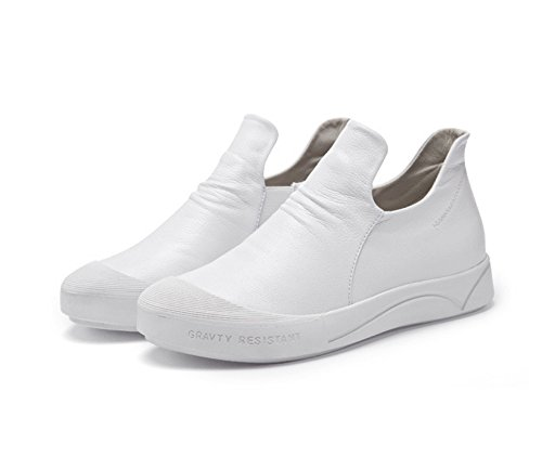 to pedal of version help comfortable Autumn boots and soft flat the casual White shoes winter ladies Korean high bottom boots wpnx0xPqA