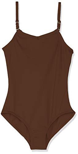 - Capezio Girls' Big  Camisole Leotard w/Adjustable Straps, Espresso Large