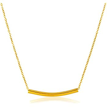 ELYA Jewelry Womens Gold Plated Polished Bar Stainless Steel Pendant Necklace, One Size