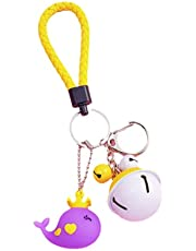 Cute Fashion Style Keychain. Creative Cartoon Whale Doll Pendant, Key Pendant, Cute Key Chain with Leather Weaving for Women