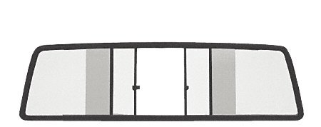 C.R. LAURENCE TSW1080B CRL Duo-Vent Four Panel Slider with Clear Glass for 1980-1986 Nissan Standard Cabs