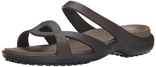 crocs Women's Meleen Twist Sandal, Espresso/Walnut, 7 M US