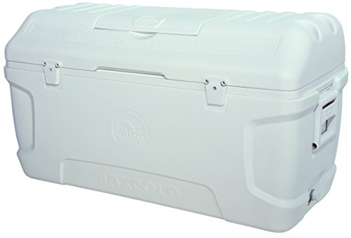 (Igloo Contour Maxcold Cooler, 165 quart/156 L, White)