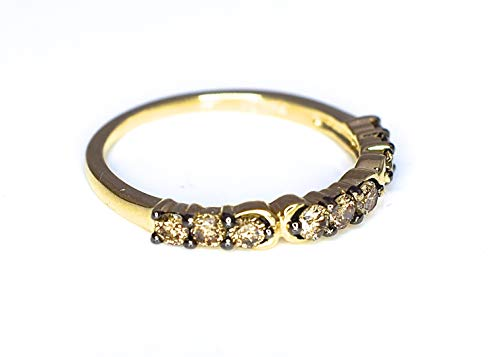 LeVian Ring 1/2 ct Chocolate Diamonds Band 14K Yellow Gold Size 7 by LE VIAN (Image #4)