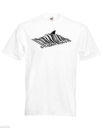 De Vertu Pêcher T Bansky Hasard Shark À Street Art Graffiti Avec Blanc shirt Hommes En Au Gratuit Code Décalque Conception Cadeau Barres OSnxqCZpSw