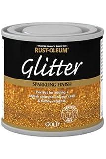 125ml Rustoleum Glitter Paint Sparkling Gold
