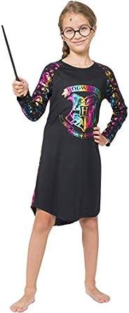 HARRY POTTER Girls Hogwarts Rainbow Hologram Raglan Nightgown Pajama