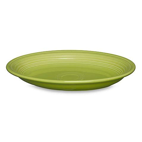 2 Pack 13.6-Inch Oval Platter in Lemongrass - Chip-Resistant With A Brilliant Glaze, Durable Ceramic (Platter Fiesta Oval Serving)