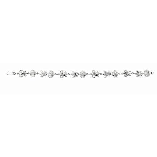 Argent Sterling plaqué Rhodium 8 cm pour la vie-JewelryWeb Bracelet