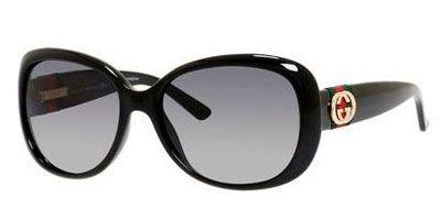Gucci Women's GG 3644/S Shiny Black/Gradient Shiny - Runway Sunglasses Gucci