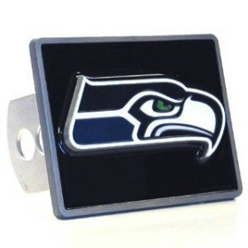 Seattle Seahawks Trailer Hitch Cover - Licensed NFL Football Merchandise