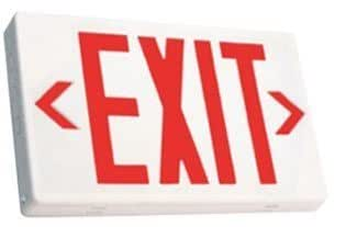 RED LED Exit Sign With Battery Backup Office Product